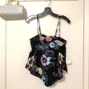 NWT Woman's Free People Floral Tank Blouse